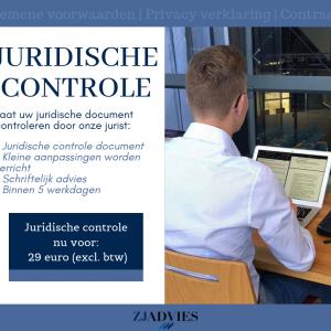 Juridische Controle ZJ Advies B.V.