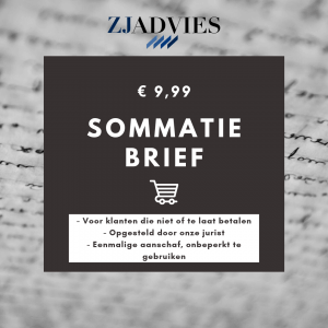 Sommatiebrief template ZJ Advies B.V.